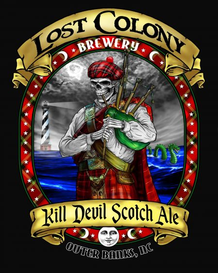 Lost Colony Brewery and Cafe, Kill Devil Hills Scotch Ale T-Shirt