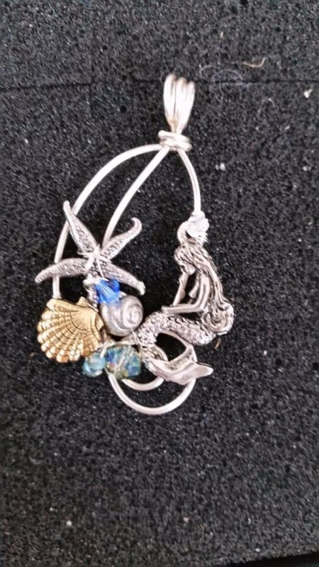 Sandcastles, Mermaid Wire Pendant