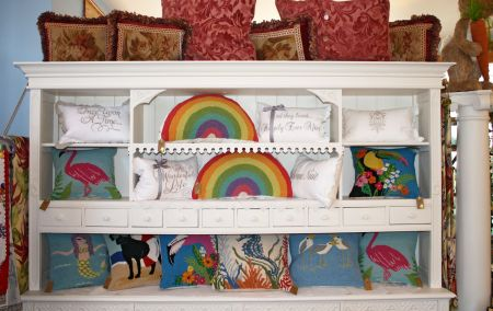 Muzzie's Fine Jewelry & Gifts, Hand Hooked Pillows