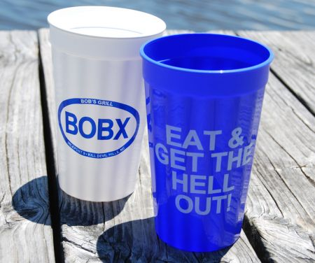 Bob's Grill Outer Banks Restaurant, Slogan Cups