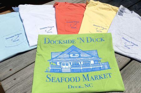 Dockside 'N Duck Seafood Market, Pocket Logo Tee