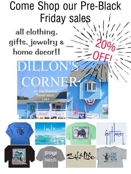 Dillon's Corner, Pre-Black Friday Sales