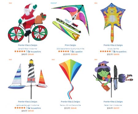 Kitty Hawk Kites, Sale Items