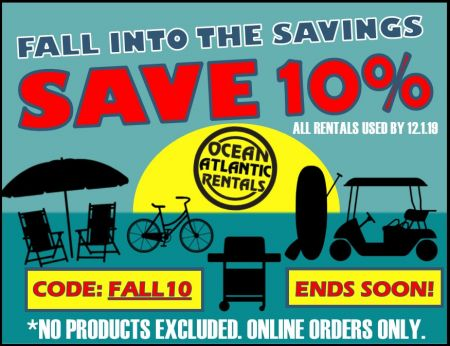 Ocean Atlantic Rentals, Fall into the Savings