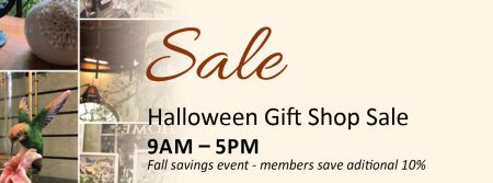 Elizabethan Gardens, Gift Shop Halloween Sale