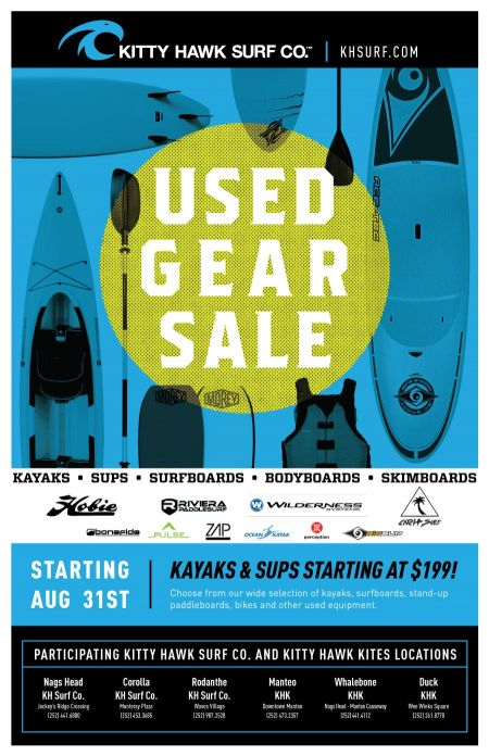Kitty Hawk Surf Co., Used Gear Sale