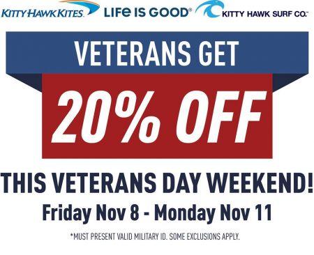 Kitty Hawk Kites, Veterans Get 20% Off