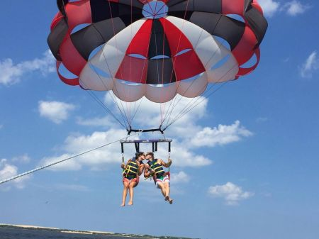 Causeway Watersports, Nags Head Outer Banks, Double Parasail Flight