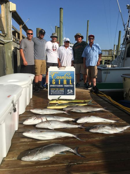 Carolina Girl Sportfishing Charters on the Outer Banks, 1:00 Pm Departure 6 Hour  , 3/4 Day Inshore Fishing Trip