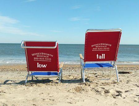 Moneysworth Beach Equipment and Linen Rentals, Beach Chair