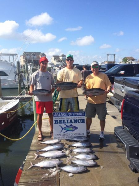 Reliance offshore fishing august 3 2016 reliance for Hatteras fishing charters