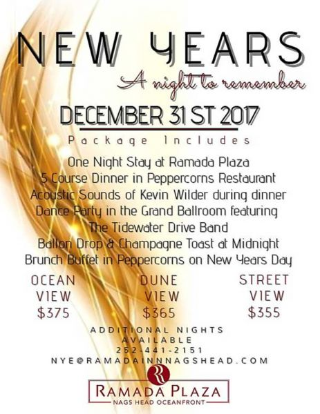 New Year\'s Eve Experience | Ramada Plaza Nags Head Oceanfront ...