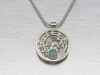 Silver Bonsai Gallery, STERLING RICE STALK NECKLACE W/ OPAL